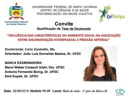 Convite Defesa Carla Zanelatto