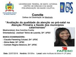 Convite banca - Ana Cunha